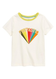 Mini Boden Glitter Logo Tee (Toddler Girls, Little Girls & Big Girls)