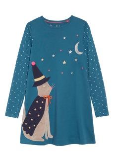 Mini Boden Halloween Appliqué Dress (Toddler Girls, Little Girls & Big Girls)