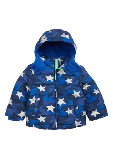 Mini Boden High Visibility Water Resistant Quilted Coat (Toddler Boys, Little Boys & Big Boys)