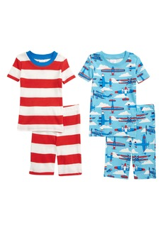 Mini Boden Kids' 2-Pack Cosy Fitted Two-Piece Short Pajamas (Toddler, Little Boy & Big Boy)