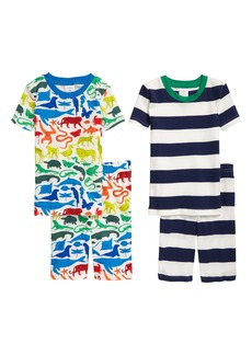Mini Boden Kids' 2-Pack Fitted Two-Piece Short Pajamas (Toddler, Little Boy & Big Boy)