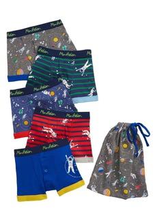 Mini Boden Kids' 5-Pack Boxer Briefs (Toddler, Little Boy & Big Boy)