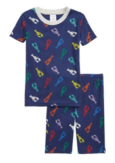 Mini Boden Kids' Cosy Fitted Two-Piece Short Pajamas (Toddler, Little Boy & Big Boy)