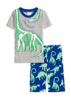Mini Boden Kids' Glow in the Dark Fitted Two-Piece Short Pajamas (Toddler, Little Boy & Big Boy)