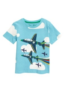 Mini Boden Kids' Plane Appliqué T-Shirt (Toddler, Little Boy & Big Boy)