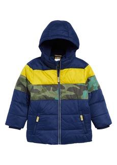 Mini Boden Kids' Water Resistant Hooded Puffer Jacket (Toddler, Little Boy & Big Boy)