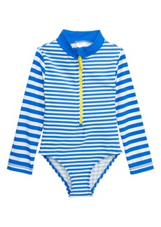 02a4f0aa75 Mini Boden One-Piece Rashguard Swimsuit (Toddler Girls, Little Girls & Big  Girls