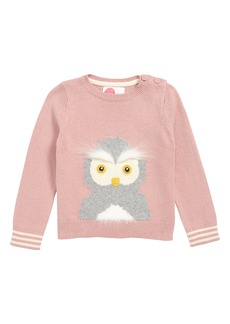 Mini Boden Owl Sweater (Toddler Girls, Little Girls & Big Girls)
