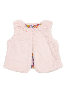 Mini Boden Party Faux Fur Vest (Toddler Girls, Little Girls & Big Girls)