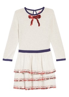 Mini Boden Party Sweater Dress (Toddler Girls, Little Girls & Big Girls)