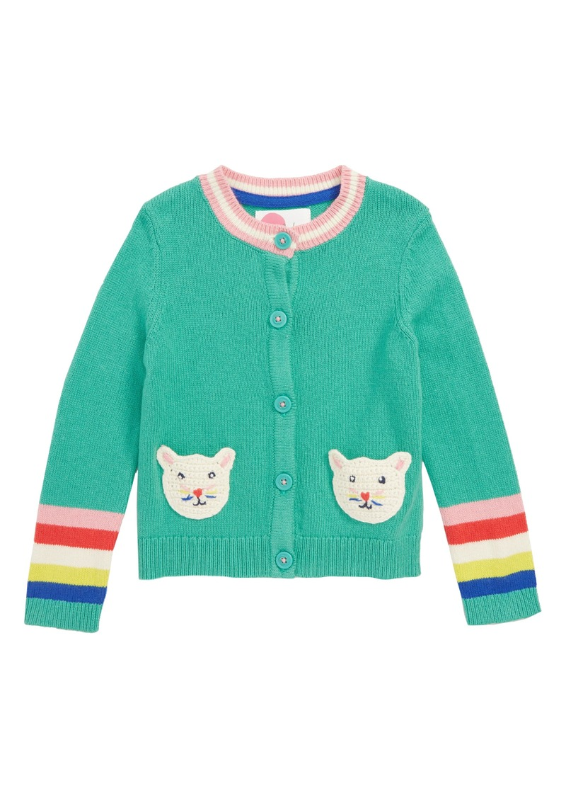 Mini Boden Pet Knit Cardigan (Toddler Girls, Little Girls & Big Girls)