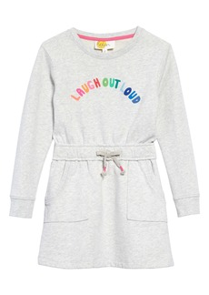 Mini Boden Slogan Sweatshirt Dress (Little Girl & Big Girl)