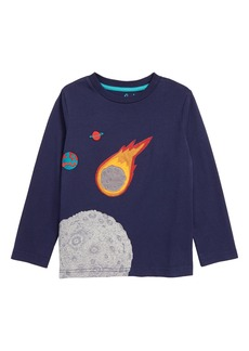 Mini Boden Space Appliqué T-Shirt (Toddler Boys, Little Boys & Big Boys)