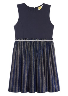 Mini Boden Sparkle Stripe Party Dress (Little Girls & Big Girls)