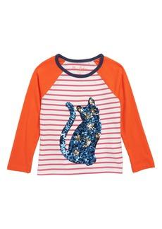 Mini Boden Spooky Sequin Appliqué Tee (Toddler Girls, Little Girls & Big Girls)
