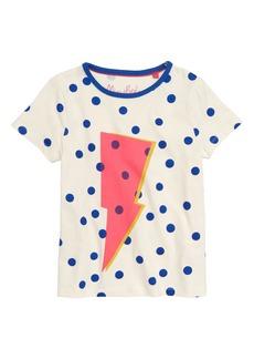 Mini Boden Spotty Logo T-Shirt (Toddler Girls, Little Girls & Big Girls)