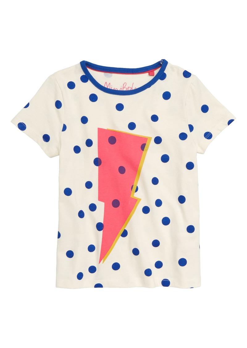 Mini Boden Mini Boden Spotty Logo T Shirt Toddler Girls Little