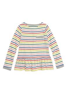 Mini Boden Stripy Pocket Tunic (Toddler Girls, Little Girls & Big Girls)