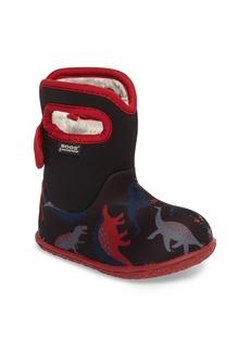 Bogs Baby Bog Classic Dino Insulated Waterproof Boot (Baby, Walker & Toddler)