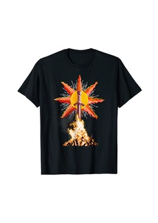 Bonfire Ahead Gamers Tee Shirt For souls in dark places