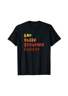 Bonfire Coin Bonfire Crypto Token Eat Sleep $Bonfire Repeat T-Shirt