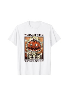 Bonfire Pumpkin Spice Leggings S'mores Fall Halloween Cute T-Shirt