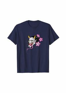 Bonfire Japanese Jealous Kijo Demon Hannya Mask Tattoo Art T-Shirt