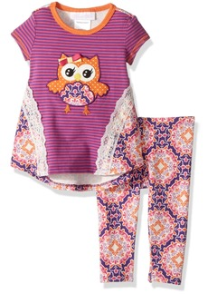 Bonnie Baby Baby Girls' Appliqued Dress and Legging Set