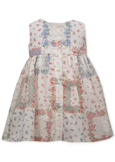 Bonnie Baby Baby Girls Button Patchwork Dress