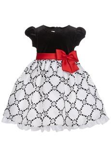 Bonnie Baby Baby Girls Flocked Velvet Dress
