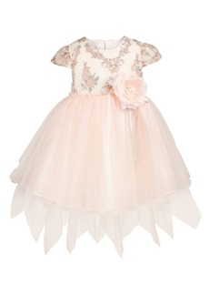 Bonnie Baby Baby Girls Floral Embroidered Fairy Dress