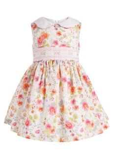 Bonnie Baby Baby Girls Floral-Print Peter Pan Collar Dress