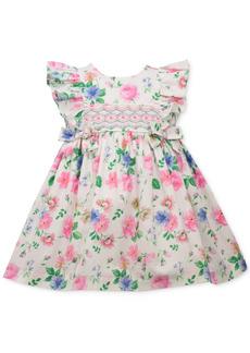 Bonnie Baby Baby Girls Floral-Print Poplin Dress