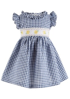 Bonnie Baby Baby Girls Gingham Seersucker Dress