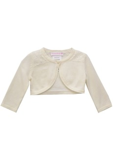 Bonnie Baby Baby Girls Cardigan with Lace Trim