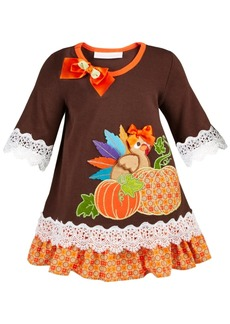 Bonnie Baby Baby Girls Lace-Trim Turkey Dress