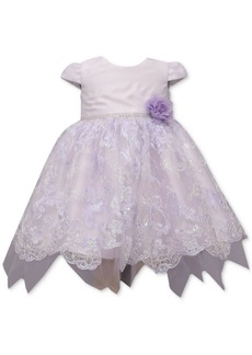 Bonnie Baby Baby Girls Lavender Embroidered Dress