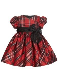 Bonnie Baby Baby Girls Metallic Plaid Dress