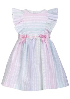 Bonnie Baby Baby Girls Metallic Striped Seersucker Dress