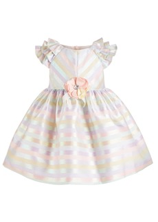 Bonnie Baby Baby Girls Pastel Striped Dress