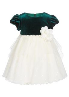 Bonnie Baby Baby Girls Pearl-Trim Dress