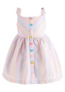 Bonnie Baby Baby Girls Rainbow-Stripe Seersucker Dress