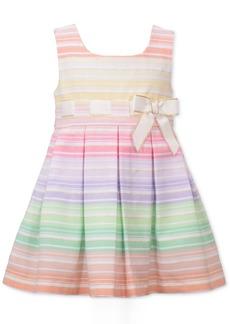 Bonnie Baby Baby Girls Rainbow Striped Dress