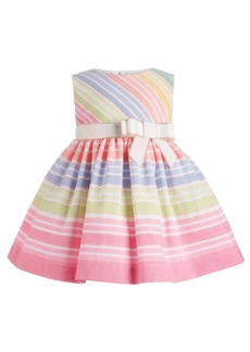 Bonnie Baby Baby Girls Rainbow Striped Dress
