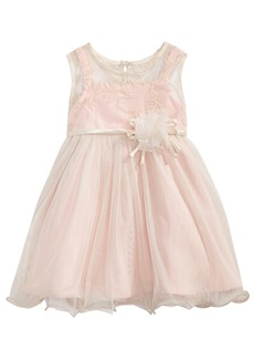 Bonnie Baby Baby Girls Rose Champagne Illusion Dress