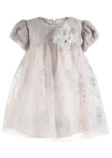 Bonnie Baby Baby Girls Sequin Floral-Print Dress