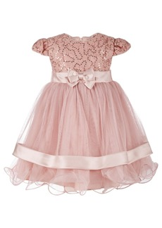 Bonnie Baby Baby Girls Sequin Lace Ballerina Dress