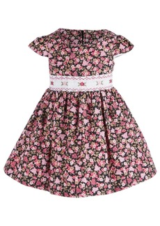 Bonnie Baby Baby Girls Smocked Floral Dress