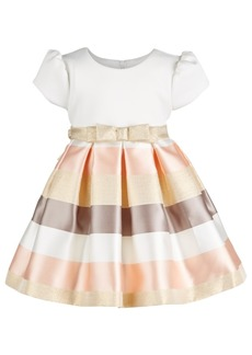 Bonnie Baby Baby Girls Striped Fit & Flare Dress