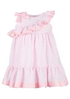 Bonnie Baby Baby Girls Striped Ruffle Dress